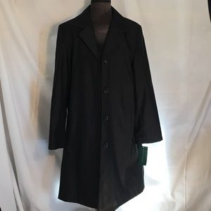 Harve Benard black size 12 woman's trench coat NWT